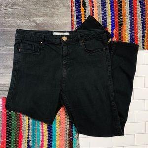 TopShop Moto Black Jamie Jeans